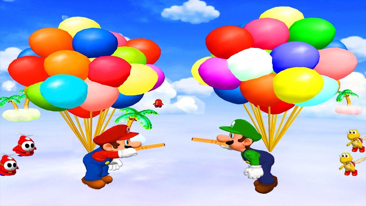 Mario Party 5 Minigames - Mario vs Koopa vs Luigi vs Peach