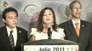 060711Senadores Beatriz Zavala Peniche y José González Morfín