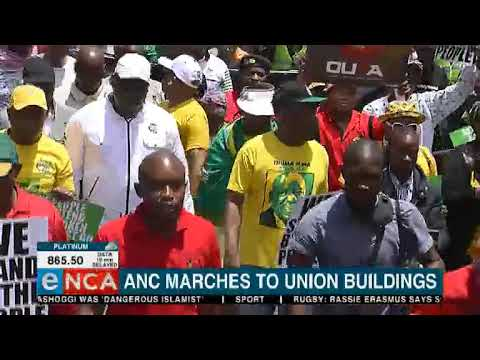 Latest from the march to the Union Buildings
