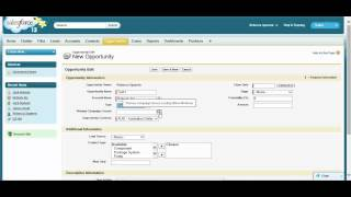 Creating an Account contact and opportunity in Salesforce