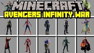 Minecraft AVENGERS INFINITY WAR MOD! | JOIN AVENGERS TO DEFEAT THANOS! | Modded Mini-Game