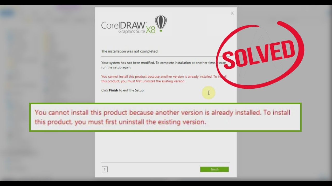 Corel draw version - Fix Corel Draw X8 You Cannot Install This Product Because Another Version Is Already Installed