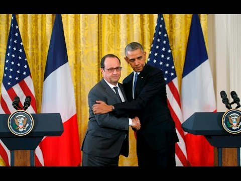 Obama & Hollande speeches, press conference after ISIL talks - LIVE