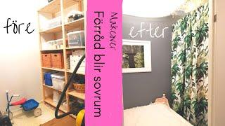 FÖRRÅD BLIR SOVRUM - Så inreder du ett mysigt sovrum på liten yta - Vlogg