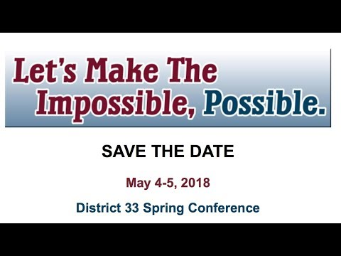 District 33 Spring Conference Invite