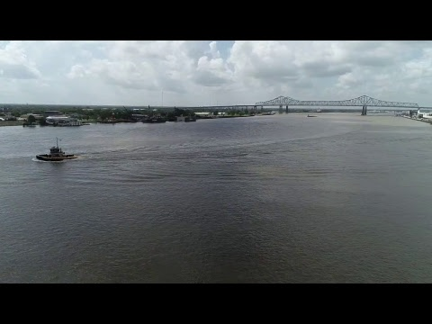 Watch A Drone Flight Over The Mississippi River And Jackson Square