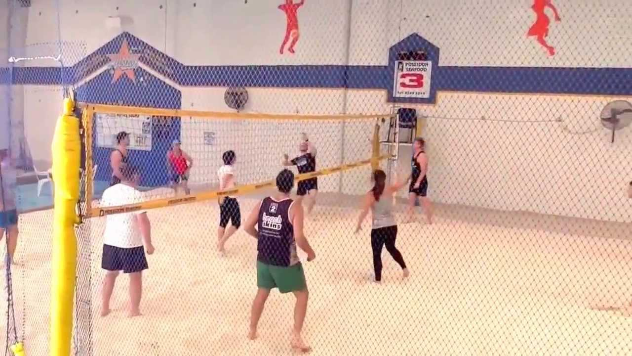Indoor Beach Volleyball Training Video - YouTube