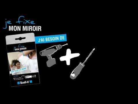 Comment fixer mon miroir youtube for Miroir 4 murs