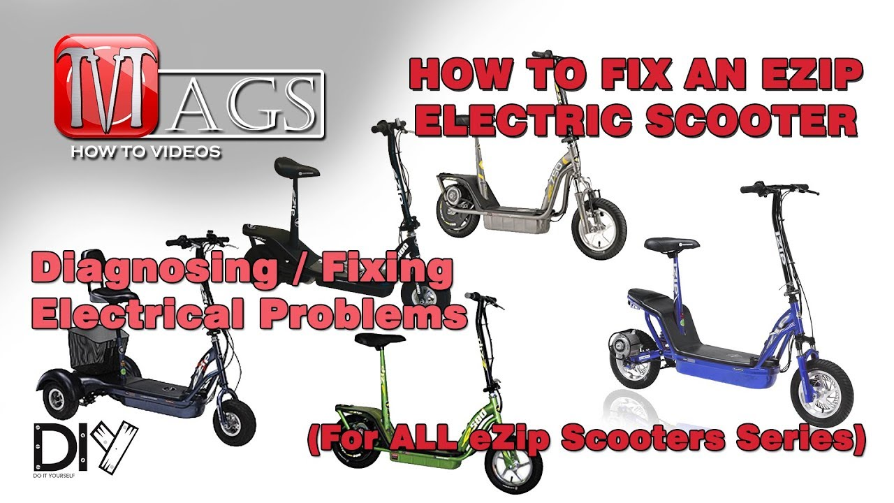 how to fix an ezip electric scooter (for all series)