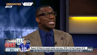 Skip and Shannon DEBATE Do the Giants have any chance to succeed with Eli as their QB  Undisputed