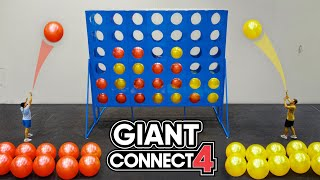 Playing The WORLD'S BIGGEST CONNECT 4 With 50 PEOPLE!