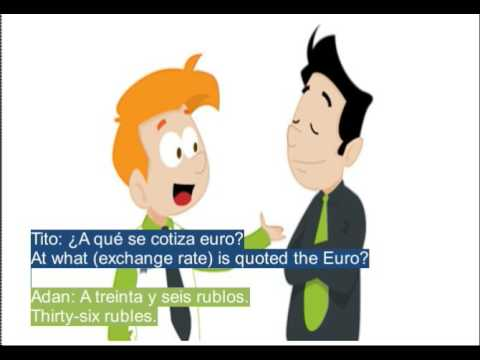 Spanish Dialogues Cambiar Dinero Change Money