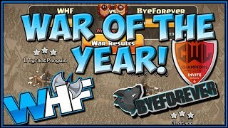 WHAT A WAR! WHF VS BYEFOREVER CWL Invite Recap - Clash Of Clans - COC