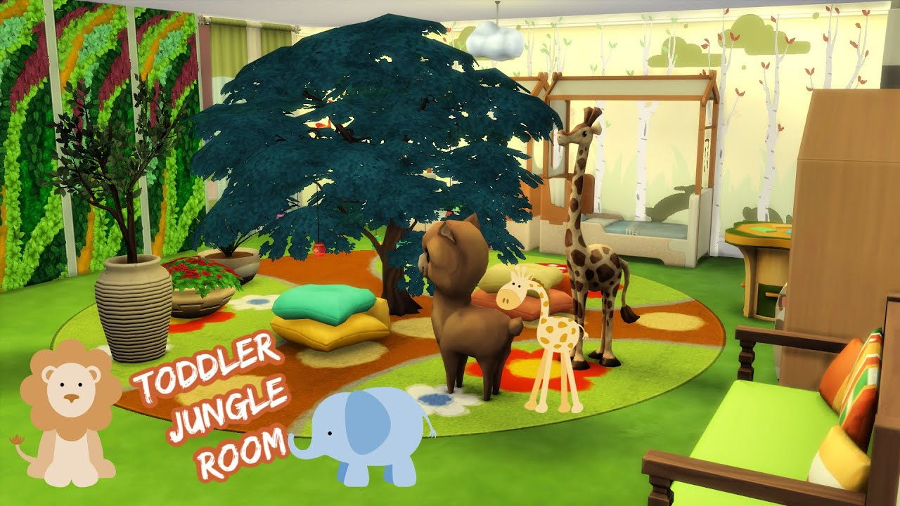 Jungle Toddler Room Speed Build | The Sims 4