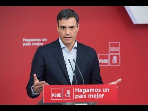 Rueda de prensa de Pedro Sánchez en Ferraz