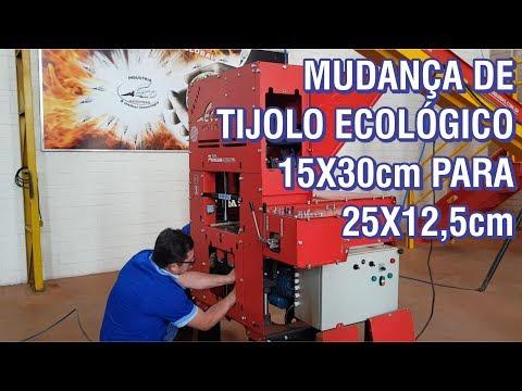 Mudando de Tijolo Ecológico 30x15cm para 25x12,5cm na Eco Premium Double