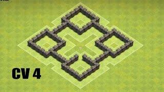 Clash of Clans CV 4 Layout Farm!