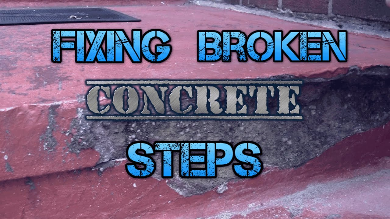 Repair Concrete Steps On A Patio   YouTube
