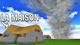 LA MAISON SURVIVRA À LA TORNADE ?!   Minecraft !
