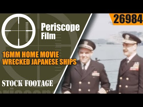 16mm HOME MOVIE  WRECKED JAPANESE SHIPS & U.S. PACIFIC FLEET RETURNS HOME 26984