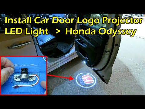 Install Car Door LED Logo Projector Light - 2019 Honda Odyssey