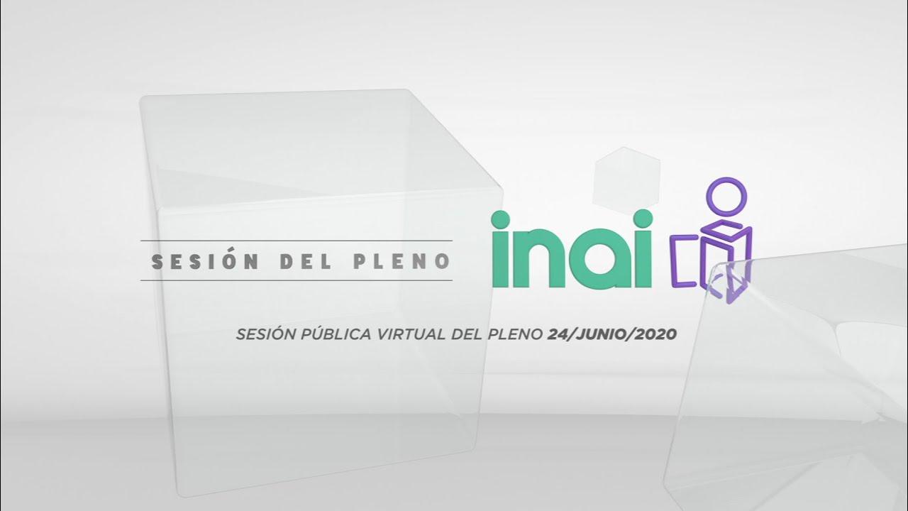 Sesión Pública Virtual del 24 de junio de 2020
