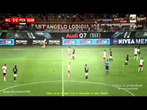 AC Milan vs Perugia 2-0   ----- Full match    Coppa Italia 2015                17-08 2015 HD