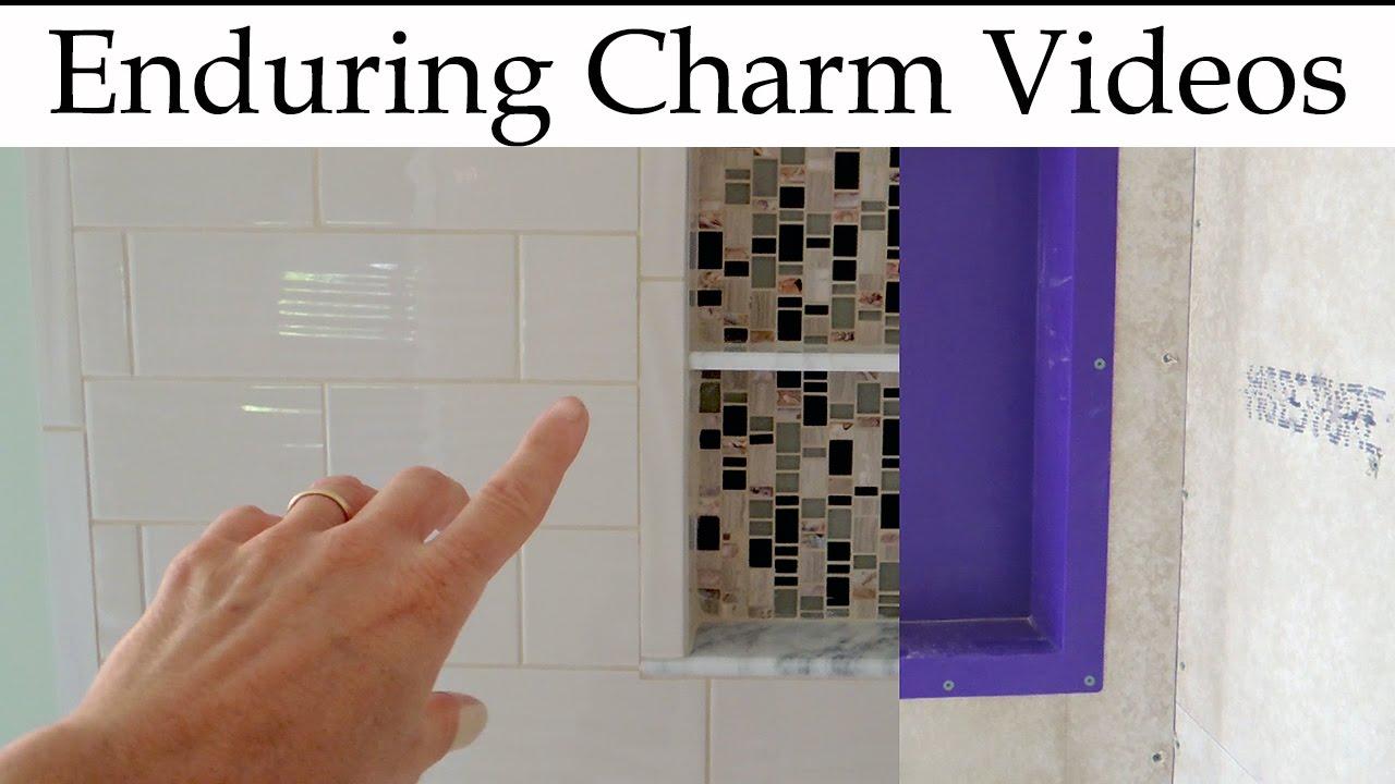 Prepare A Shower Niche For Tile - YouTube