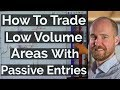 How To Trade Low Volume Areas With Passive Entries - Price Ladder Trading | Axia Futures
