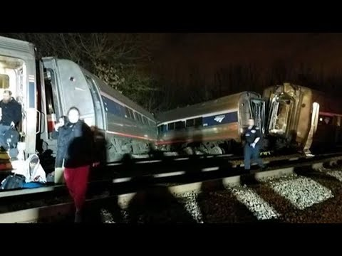 🔴LIVE: Amtrak Train Collides with Freight Train - LIVE BREAKING NEWS COVERAGE