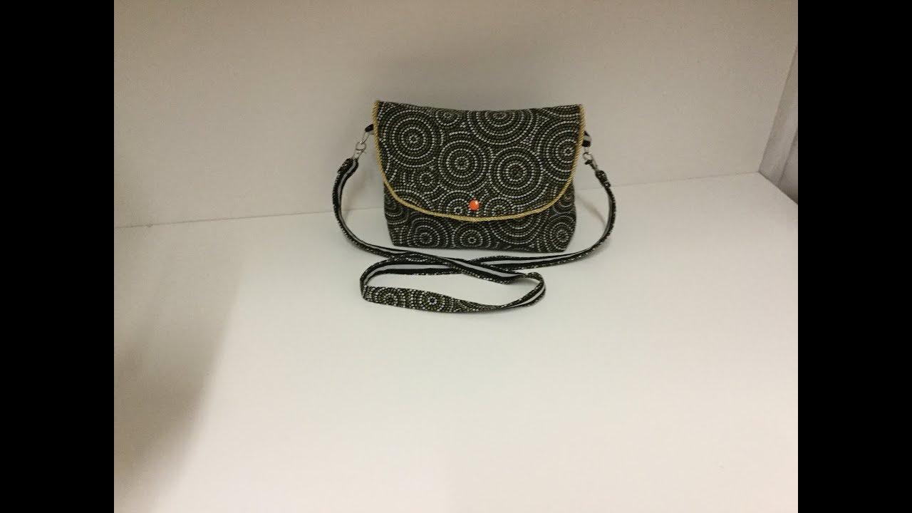 Coudre un petit sac à bandoulière - Tuto Couture Madalena - YouTube 9ddaef75074b