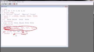 R - Data Structures (part 1) - vectors and factors