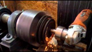 Самоделен токарний верстат для металу та дерева токарна hand made