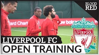 Liverpool Open Training: Mo Salah returns | Genk vs LFC
