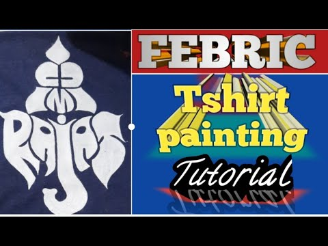 Fabric painting tutorials # ganesha on t-shirt # for Beginer to Intermediate # গনেশা  সিদ্ধি দাতা