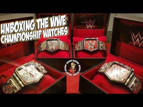 Unboxing The WWE HeavyWeight & Universal Championship Wrist Watch Set