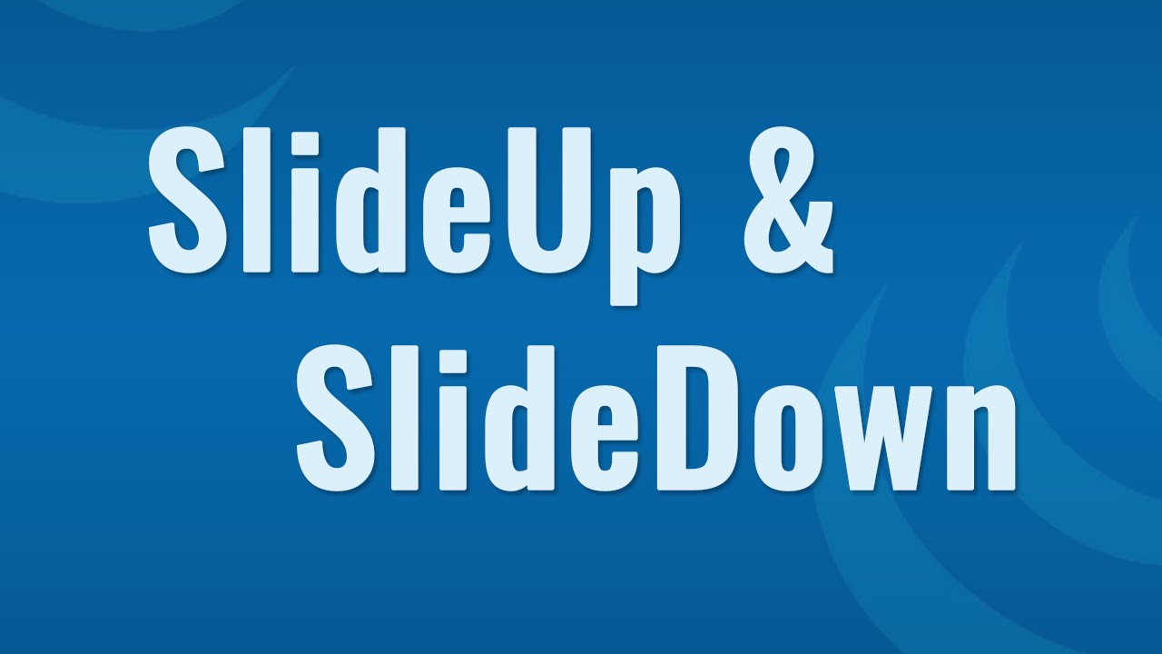 Jquery slideup() and slidedown() example suggestions w3schools.