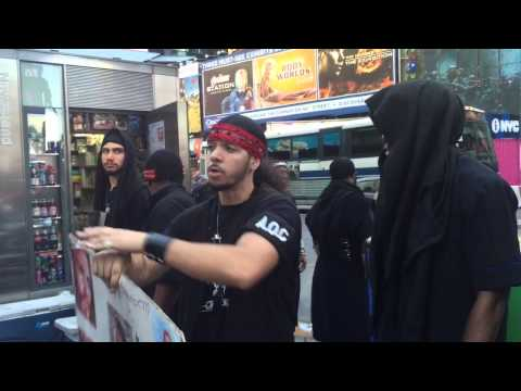 The Black Hebrew Israelites In Times Square, New York.