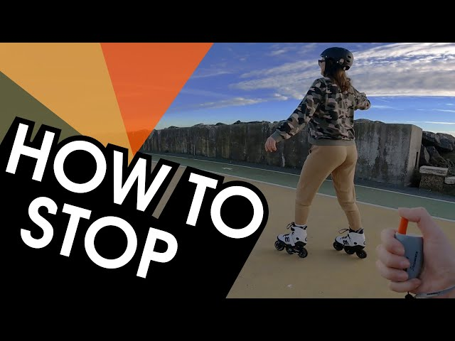 HOW TO STOP ON INLINE SKATES USING A REMOTE CONTROL
