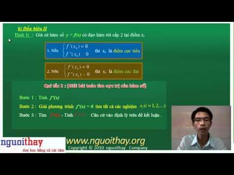 Cực trị của hàm số  (phần 1)