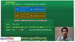 Video | Cực trị của hàm số phần 1 | Cuc tri cua ham so phan 1