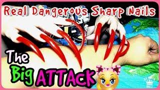 PERFECT Asmr VIDEO  CLOSE UP LONG SHARP NAILS  aggressive SCRATCHING HARD! Triggers and tingles!