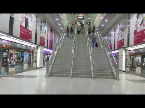[Multiply the C751C] SBST NEL Alstom C751C Trains departing Dhoby Ghaut