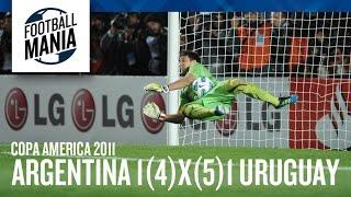 Muslera Saves Tevez Penalty as Uruguay Eliminates Argentina - Copa América 2011