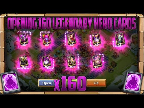 160 Legendary Hero Cards | 1 Rare Hero Card | 2 Special Hero Cards | Opening | Castle Clash