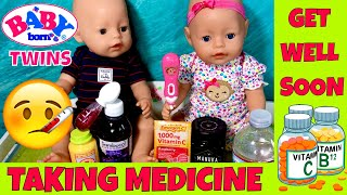 💊Baby Born Twins Taking Medicine To Get Better! 🍼Feeding, Changing + Nap: Morning Routine!😴