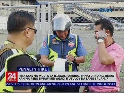 Pinataas na multa sa illegal parking, ipinatupad ng MMDA kanina pero binawi rin agad