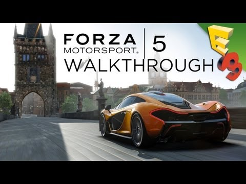 FORZA 5 Xbox One Gameplay Interview! Adam Sessler at E3 2013!
