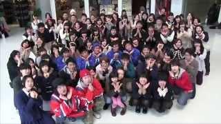 青森県八戸市の、まちの人と学生が仲良く踊ったバージョンです!! 撮影...