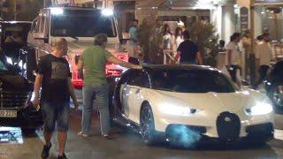 Un RICHE SAOUDIEN bloque la rue avec SA BUGATTI !! (Carspotting  Juan-Les-Pins)